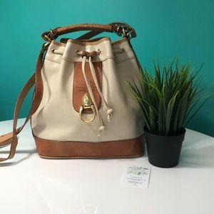 Vintage Italian Leather Bucket Bag
